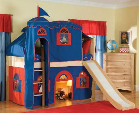 Best Twin Bunk Bed With Slide And Plays On Pinterest 640 x 480
