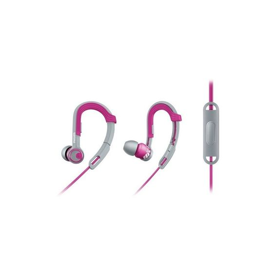 Philips SHQ3305PK/27 Actionfit Sports Headphones With Microphone - Pink/Gray,