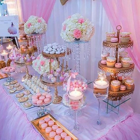 55 Elegant Design Ideas For Wedding Decor Page 49 Of 55 Soopush Gold Dessert Table Quince Decorations Quinceanera Decorations