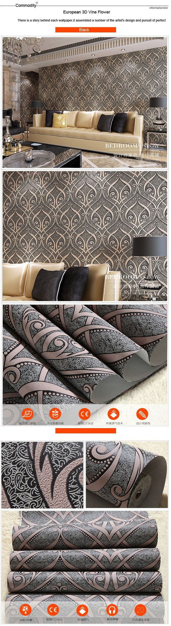 Bloemen wallpapers niet geweven, bloem wijnstok europese behang voor de muren, behang voor slaapkamer, moderne behang wandbekleding 3d in PVC Wall Paper Flower Vintage,Floral Wallpaper Roll,Embossed wallpapers for living room bedroom paper decoration for wal van wallpapers op AliExpress.com | Alibaba Groep