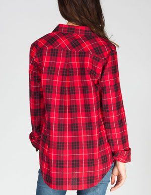 Full tilt womens flannel shirt dear santa pinterest for How to wash flannel shirts