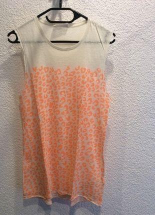 Longshirt von Zara aus Leinen