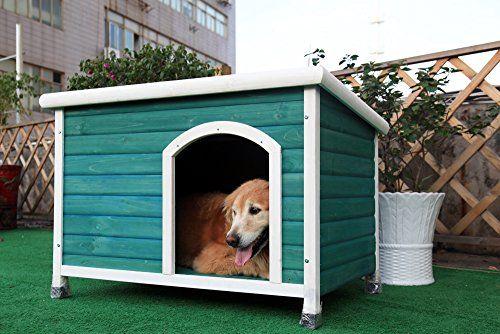 Petsfit 40.8 X 26 X 27.6 Inches Dog Houses, Dog House Outdoor Petsfit http://www.amazon.com/dp/B00PXNBWKG/ref=cm_sw_r_pi_dp_v3dJwb1VMSRTB