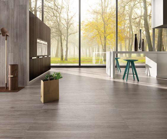 Rovere cenere pavimenti effetto legno in gres porcellanato ...