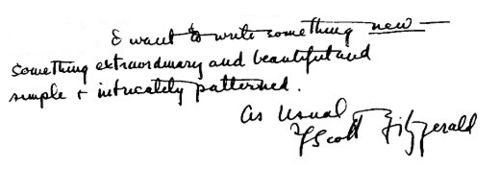 F. Scott Fitzgerald, in a letter to his editor written in July, 1922. He was referring to The Great Gatsby.