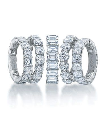 Diamond Eternity Bands by JB Star.  Available at Alson Jewelers