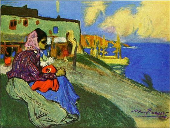 Pablo Picasso - Fille bohémienne devant La Musciera1898Pastel on paper44.5 x 59.7 cmPrivate Collection