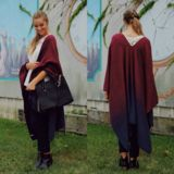 Burgundy Ombre Tassel Knit Poncho – UOIOnline.com: Women's Clothing Boutique