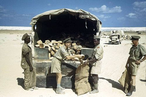 https://flic.kr/p/5WqfY8 | South African troops up North circa 1941 | Once again this photo strictly does not belong in this set,but is nevertheless a remarkable colour record  depicting S.A.troops in the desert busy with day to  day tasks. More to follow