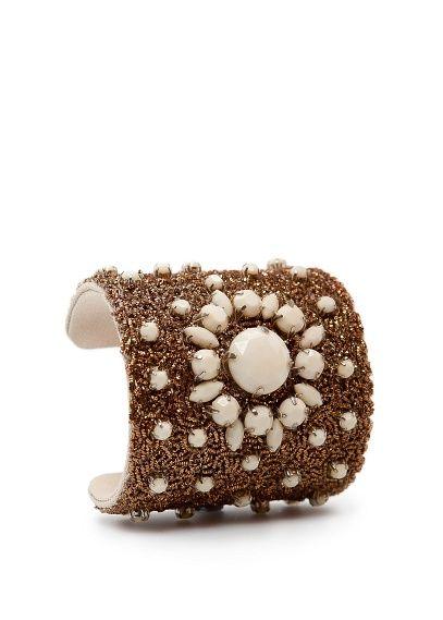 TOUCH - Bracelete metalizado pedras