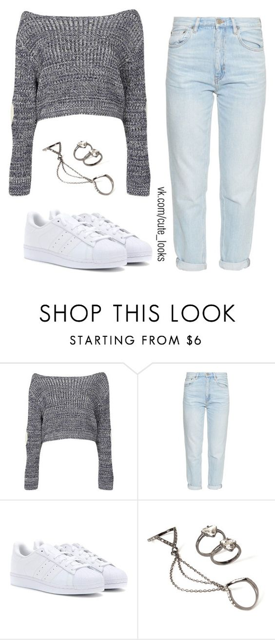 """Untitled #257"" by nochnaifyria ❤ liked on Polyvore featuring Boohoo, M.i.h Jeans, adidas Originals and Forever 21"