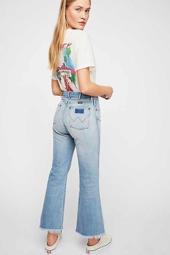 Wrangler Retro Crop Flare Jeans