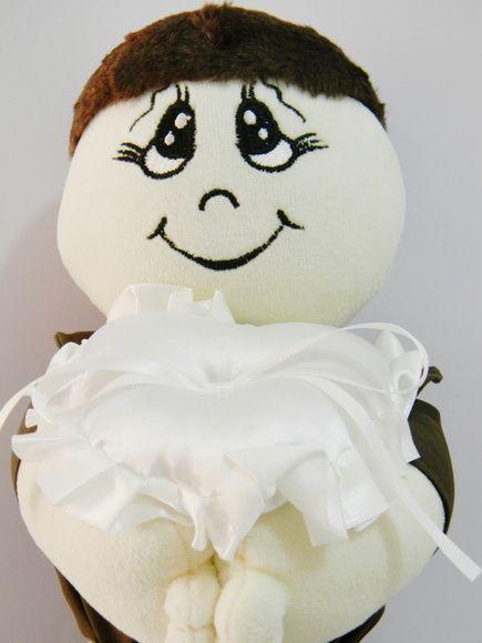 Boneco de Santo Antônio com almofada para as alianças. #inventovivo