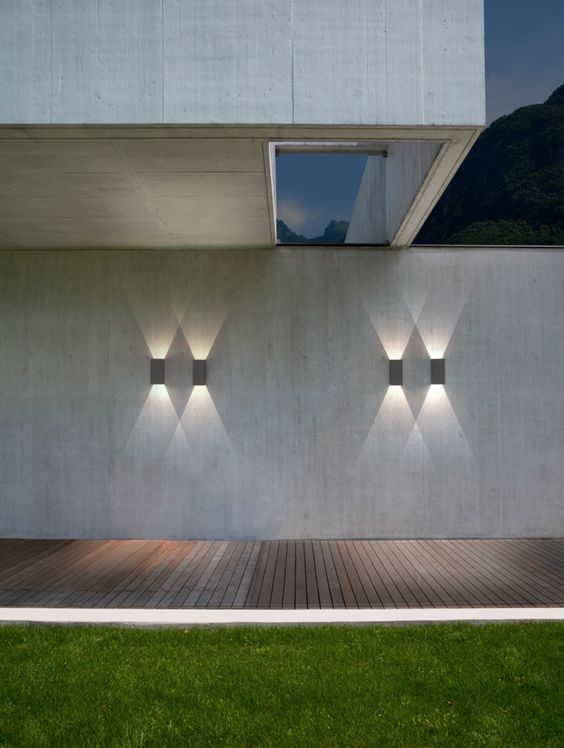 Paredes de concreto iluminaci n exterior and apliques de for Iluminacion exterior pared