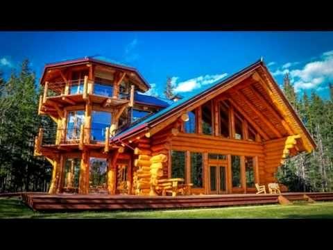 Hermosas Casas De Madera De Salvaje Troncos Parte 2 Youtube Casas De Troncos Casas Estilo Cabana Casas Cabanas