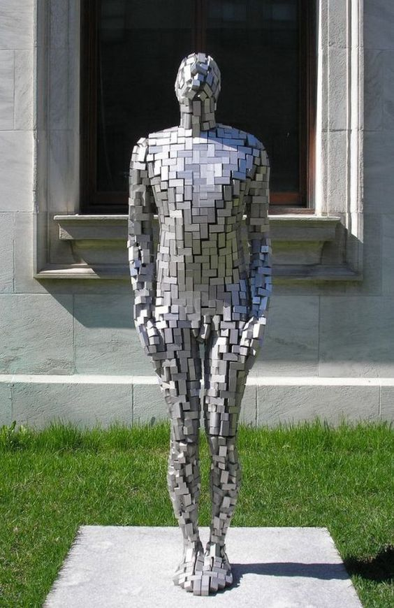 The Building VI sculpture. This public sculpture art is designed by Antony Gormley, sculptor and designer that transforms a site of subjective experience into one of collective projection. This beautiful sculpture art is located outside the Musee des Beaux-Arts in Montreal, Canada