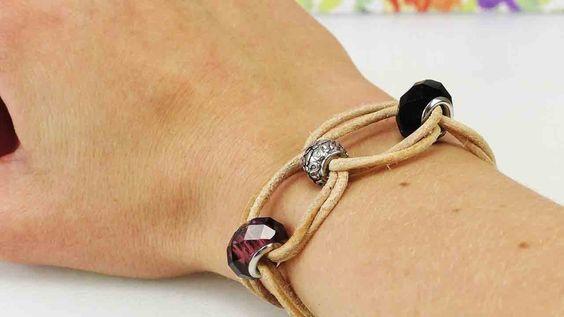 Armband mit Nomination Perlen | Tolles Perlen Armband einfach selber machen | Schmuck DIY