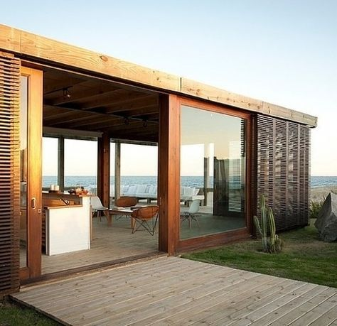 Architecture , Inspiring Modular Beach Homes Peka Peka Beach House By Parsonson  Architects : Modular Beach House Wood Terrace | Architecture | Pinterest ...