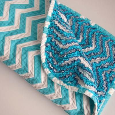 Chevron Chenille Baby Blanket {Baby Blanket}