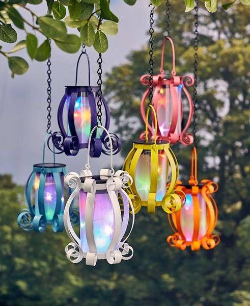 Solar Lantern Colorful Scroll Multicolored Lights Hanging Or Tabletop Yard Patio Solar Light Crafts Solar Lanterns Solar Lights Garden
