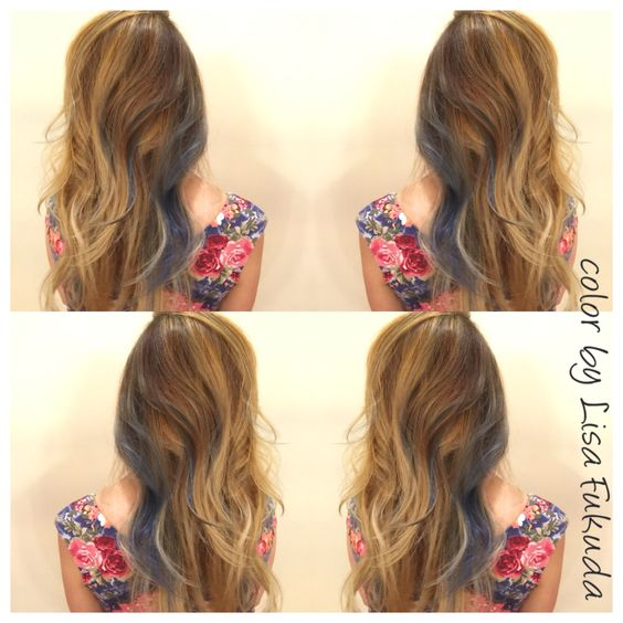 Balayage soft ombre blonde highlights with bohemian for 111 maiden lane salon