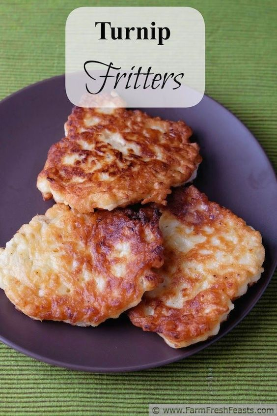 Turnip Fritters | Fritters