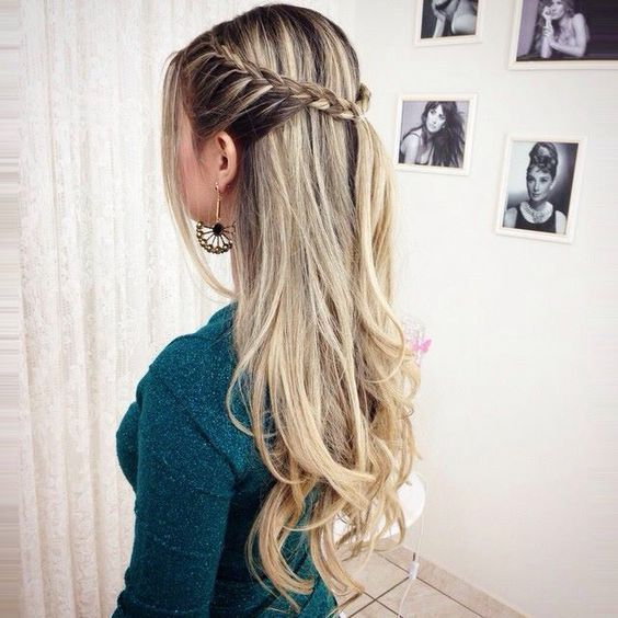 Easy Braided Hairstyle Long Hair For Valentine S Day Braided Hairstyles Easy Hair Styles Braided Hairstyles