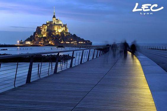 Footbridge of the Mont Saint Michel, France