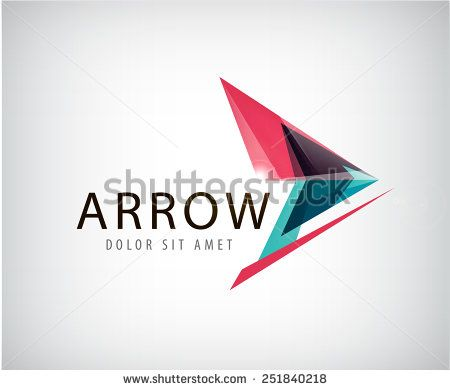 vector abstract arrow logo, icon isolated