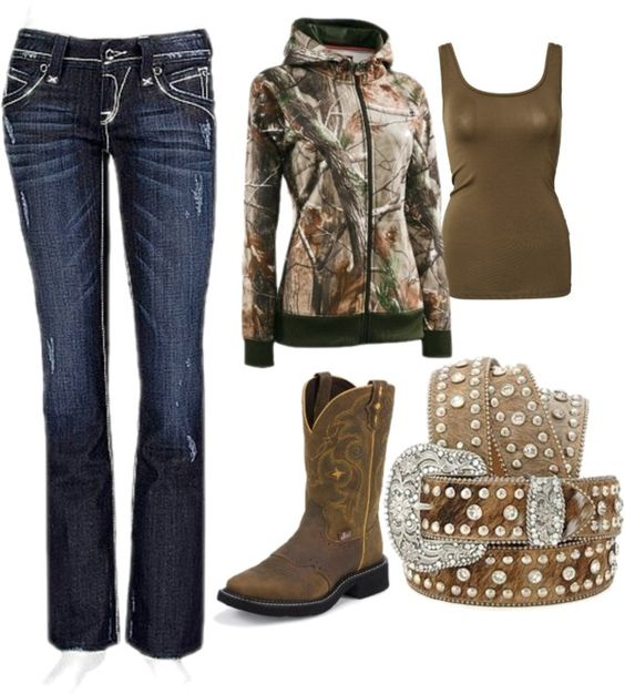 """camo girl"" by blckkat ❤ liked on Polyvore  I love it all except I would wear a different belt!"