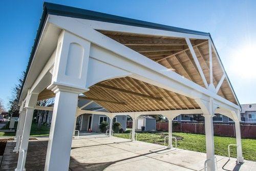 Premium Vinyl Pavilion Gabled Roof Pergola Pergola Designs Modern Pergola