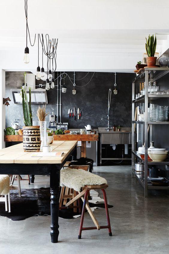 インダストリアル インテリア キッチン コーディネート例
