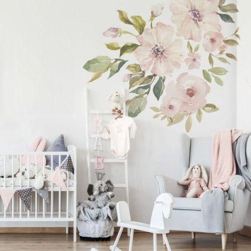 Zestaw Szesciu Cudownych Kwiatow Trzy Duze Rozlozyste Kwiaty Jako Baza Kompozycji 3 Dodatkowe Wall Sticker Decor Wallpaper Stores