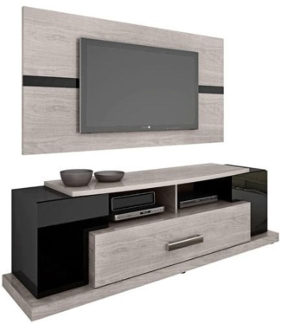Tv rack led and tvs on pinterest for Muebles para tv modernos