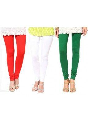 Party Wear Tri Color Legging Combo -105