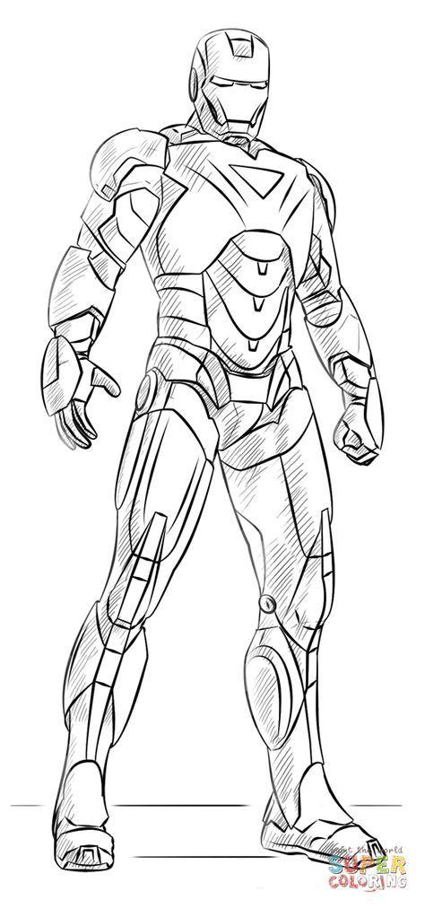 Iron Man Super Coloring Iron Man Para Dibujar Superheroes Dibujos Ironman Dibujo