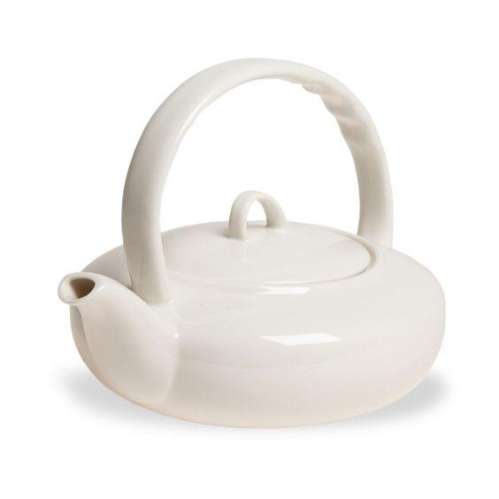 Théière plate en porcelaine - Un format idéal pour un parfait épanouissement des saveurs - 12,95 €