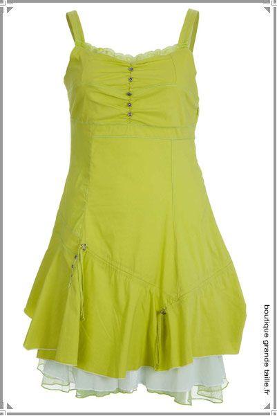 Robe courte volants jupon voyant une petite robe d 39 t - Robe d hotesse grande taille ...
