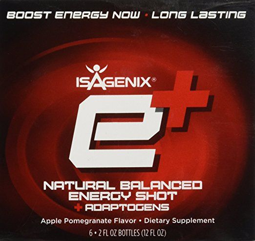 Isagenix e+ Healthy Energy Shot Apple Pomegranate 2oz - 6 pack