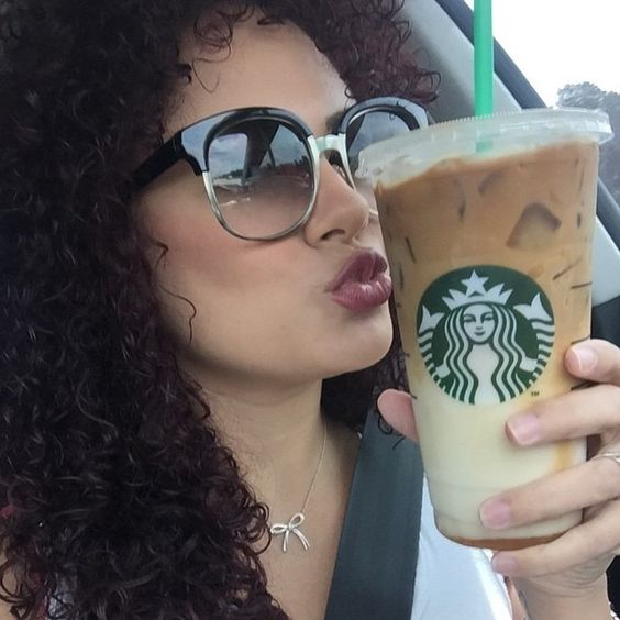 Our kind of morning! A venti with a side of sunnies ☕️ @sheiilove looking like a babe in our #6157 square sunnies