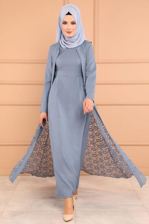 Modaselvim Bugune Ozel Yelegi Dantel 2 Li Kombin Msw8642 S Bebe Mavisi Model Pakaian Hijab Model Baju Wanita Pakaian Wanita