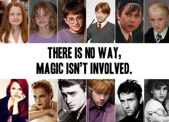 The Harry Potter kids grew up to be smokin' hot.