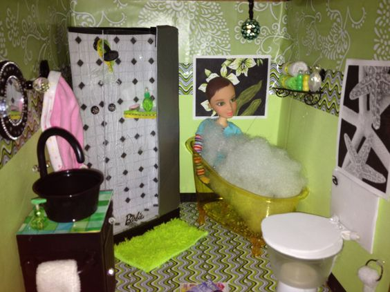 Bathroom Glam Inspired By My Froggy Stuff | La Petite Pad | Pinterest |  Stuffing, Dolls And Doll Houses Part 30