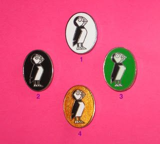 Four Puffin Club badges. 1. The standard badge. 2. After 4 years membership. 3. Puffin Club Australia. 4. The special badge was gold and was given to founder members and those who had made a notable contribution to the club.  The Puffin Club Archive: July 2008