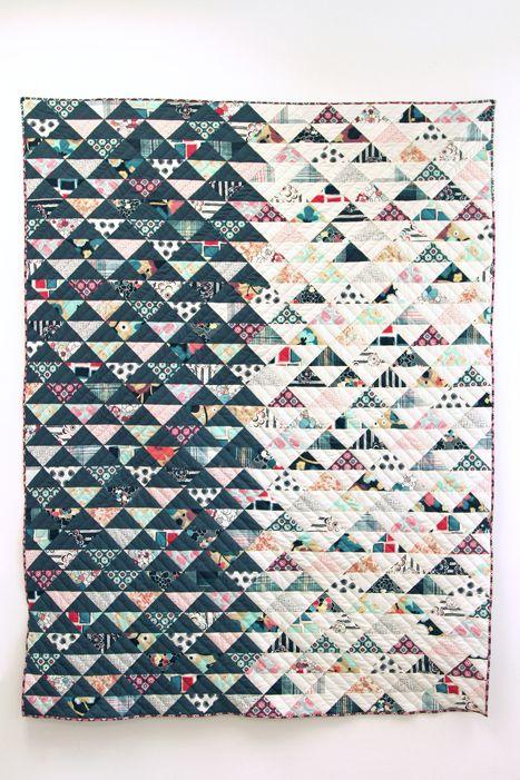 Dare collection half square triangle quilt | Pat Bravo
