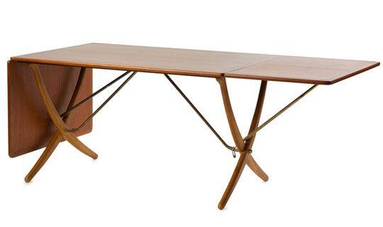 hans wegner cross legged dining table: