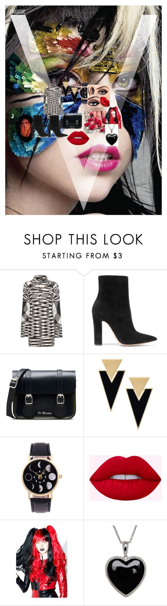 """""""blac"""" by heike5 ❤ liked on Polyvore featuring Missoni, Gianvito Rossi, Dr. Martens, Yves Saint Laurent, Leg Avenue and Lord & Taylor"""