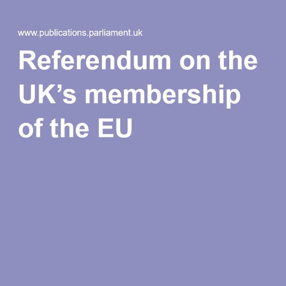 Referendum on the UK's membership of the #EU The  forthcoming  referendum  on  the  UK's  membership  of  the  EU  has  focused attention on the process whereby a Member State could withdraw  from  the  EU.  #Article50  of  the  Treaty  on  European  Union  (#TEU),  which   was incorporated into the EU Treaties by the Treaty of Lisbon, and which came into force on 1 December 2009, provided for the first time an explicit right under EU law to withdraw from the EU, and a means of doing so.