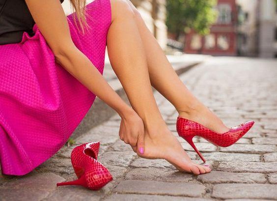 usar tacones sin que te duelan los pies