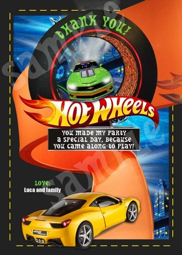 Hot Wheels Birthday Invitations Printable Free Hot Wheels - birthday invitation model